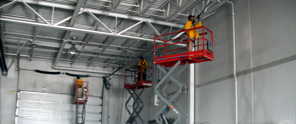 Warehouse Commercial Cleaning - Hard to Reach Areas